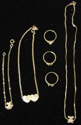 14 K Gold Jewelry Lot.
