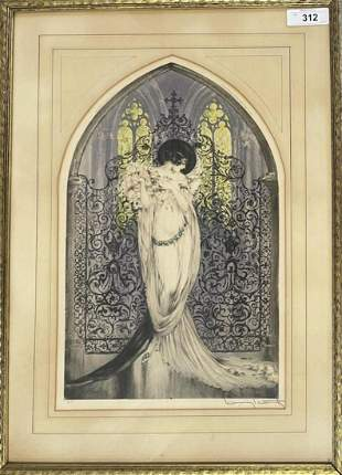 Louis Icart. La Tosca Colored Etching