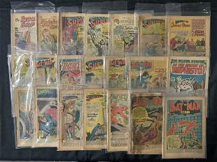 Vintage Coverless Comic Book Lot, DC, Marvel