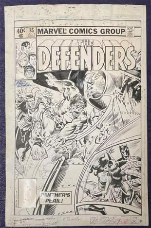 Marvel Comics Original Cover Art. Defenders #85
