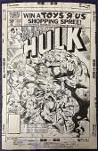 Hulk #252 Marvel Comics Original Cover Art.