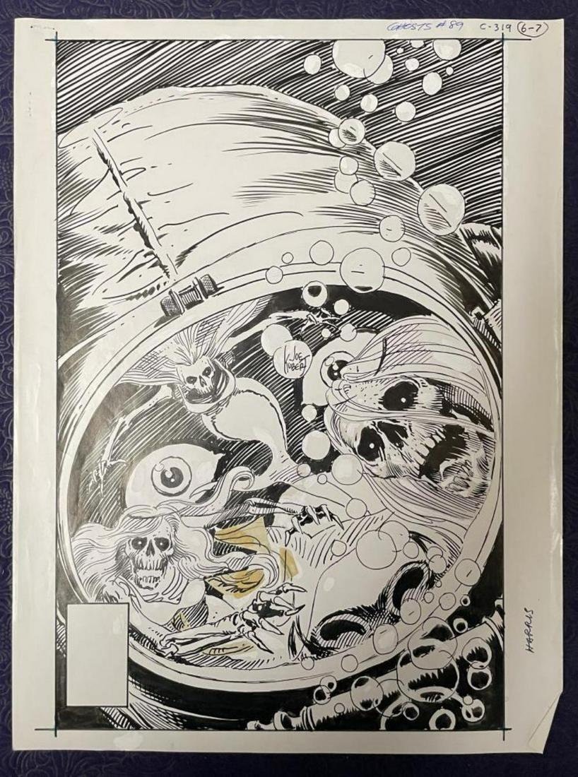 Joe Kubert. Ghosts #89 Cover Art.