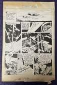 Joe Kubert. Speed Comics. Original Comic Page.