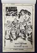 Joe Kubert. Tor. Marvel Age Original Cover Art.