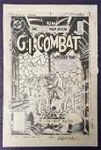 Joe Kubert G. I. Combat #277 Cover Art.