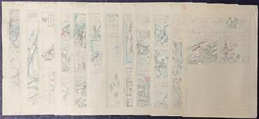 Joe Kubert. Original (12) Page Pencil Story.