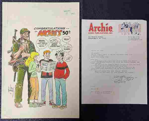 Archie. 50th Anniversary Specialty Piece by Kubert