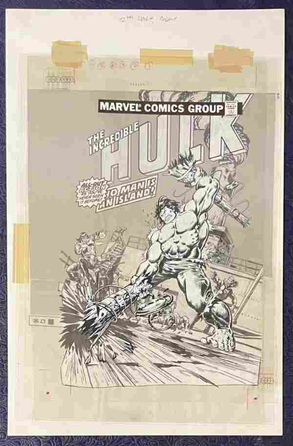 Joe Kubert. Hulk 3-D Cover Art.