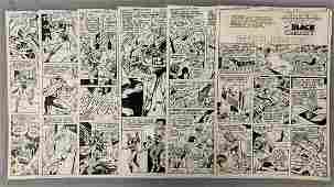 D.C. Comics Original Art (6) Pages.
