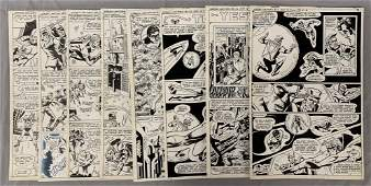 D.C. Comics Original Art (8) Pages.