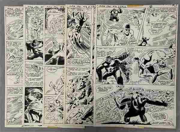 D.C. Comics Original Art (5) Pages.