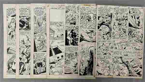 D.C. Comics Original Art (7) Pages.
