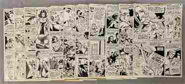 D.C. Original Comic Art. (11) Pages.