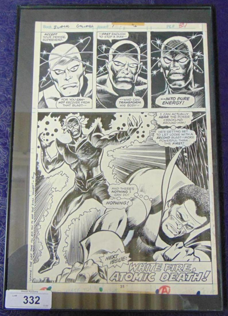 George Tuska Original Comic Page.