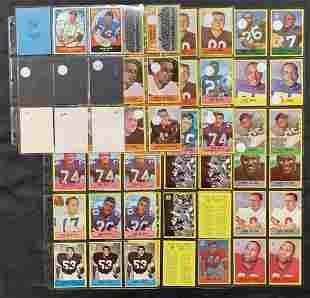 1967 Philly & Topps Football Card Lot.