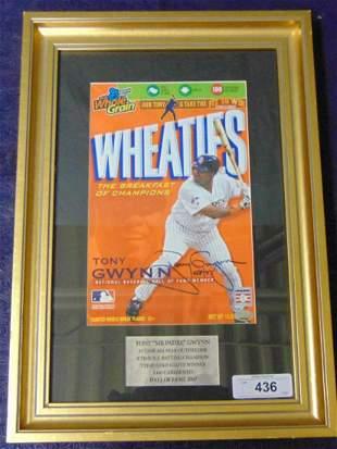 Tony Gwynn Signed Framed Wheaties Box