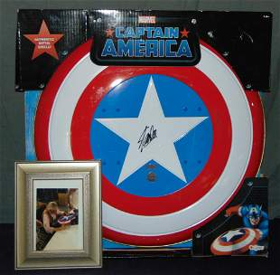 Stan Lee Signed Captain America Shield