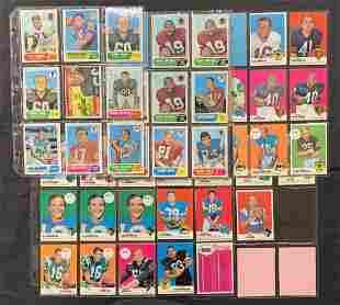 1968 & 1969 Topps Football Card Lot.