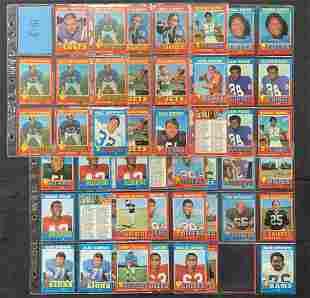 1971 Topps Football Card Lot.