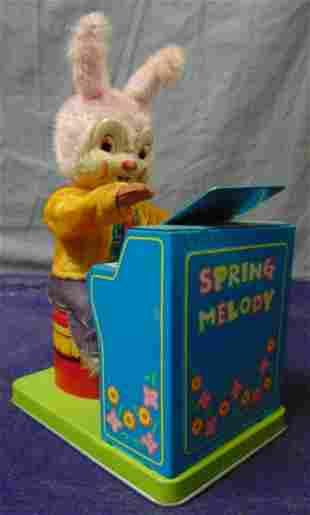 Wind Up Japanese Rabbit at Piano.