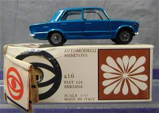 Boxed Mebetoys A16 Fiat 124 Berlina