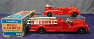 2 Hubley Fire Trucks, 1 Boxed