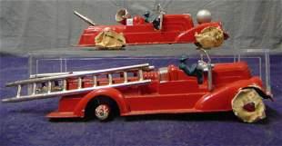 2 Early Hubley Fire Trucks