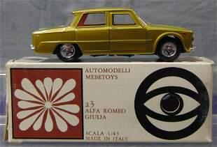 Boxed Mebetoys A3 Fiat Romeo Giulia