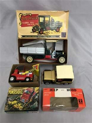3 Boxed Japanese Tin Vehicles