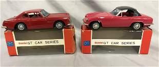 2 Boxed Bandai Tin GT Sports Cars