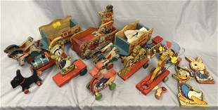 Large Lot Vintage Fisher Price Parts & Projects