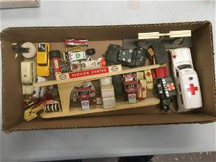 Assorted Vintage Diecast Vehicles and Accessories