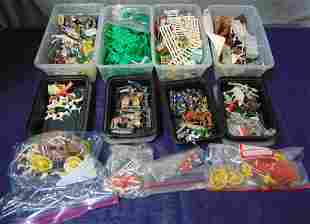 Large Lot Plastic Figures & Accessories