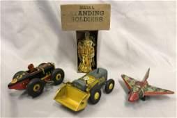 4pc Marx Tin Toy Lot