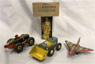 4pc Marx Tin Toy Lot