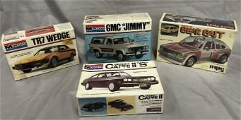 4 Mint Boxed Vintage Model Kits