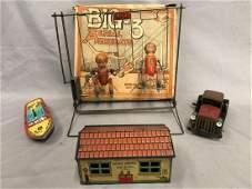 4pc Tin Toy Lot