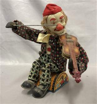 Alps Clown Violinist Battery Toy