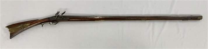 Flintlock Rifle. Early 19th century.