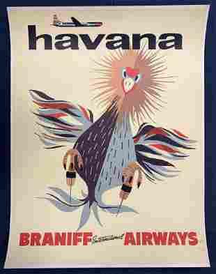 Rare, Havana Braniff International Airways Poster