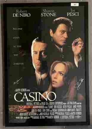 Casino Signed One Sheet Movie Poster.
