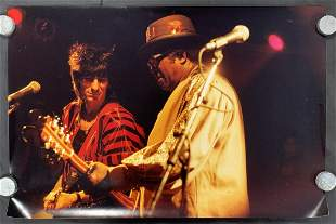 Ron Wood & Bo Diddley Orig Oversize Color Photo