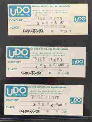 (3) Unused Pink Floyd 1988 Japan Concert Tickets