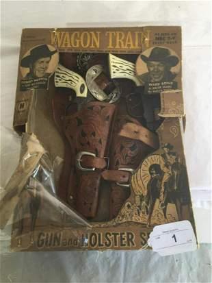 Wagon Train Cap Gun Set in Box.