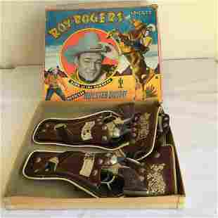 Roy Rogers Gun and Holster Set Boxed.