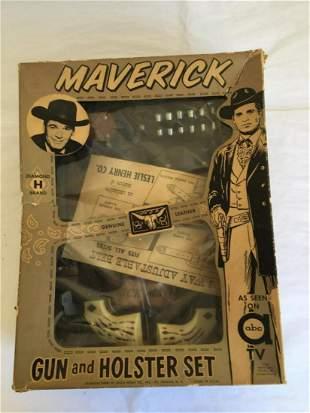 Maverick 1958 Cap Gun and Holster Set Boxed.