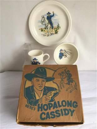 Hopalong Cassidy China Set Boxed.