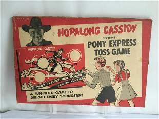 Hopalong Cassidy Pony Express Toss Game.