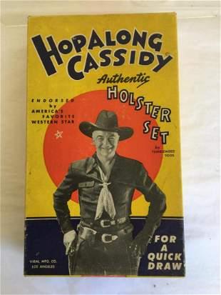 Hopalong Cassidy Holster Set. Boxed.