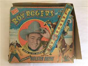 Roy Rogers and Trigger Holster Set in Rough Box.
